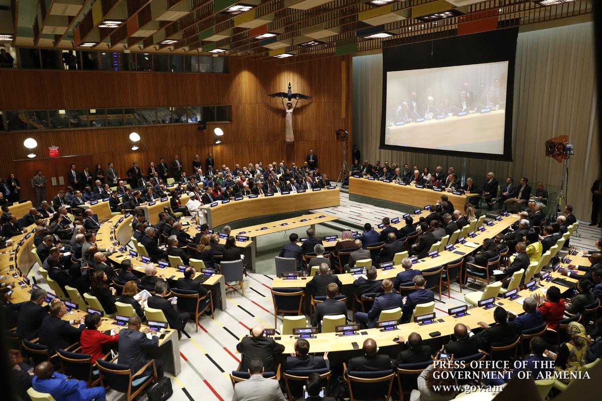 Никол Пашинян выступил с речью на Саммите мира памяти Нельсона Манделы