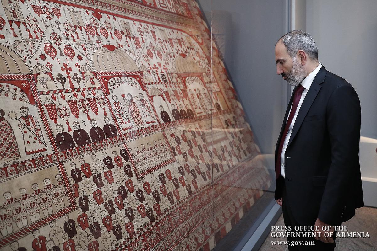 """Никол Пашинян посетил выставку """"Армения"""" в Метрополитен-музее в Нью-Йорке"""