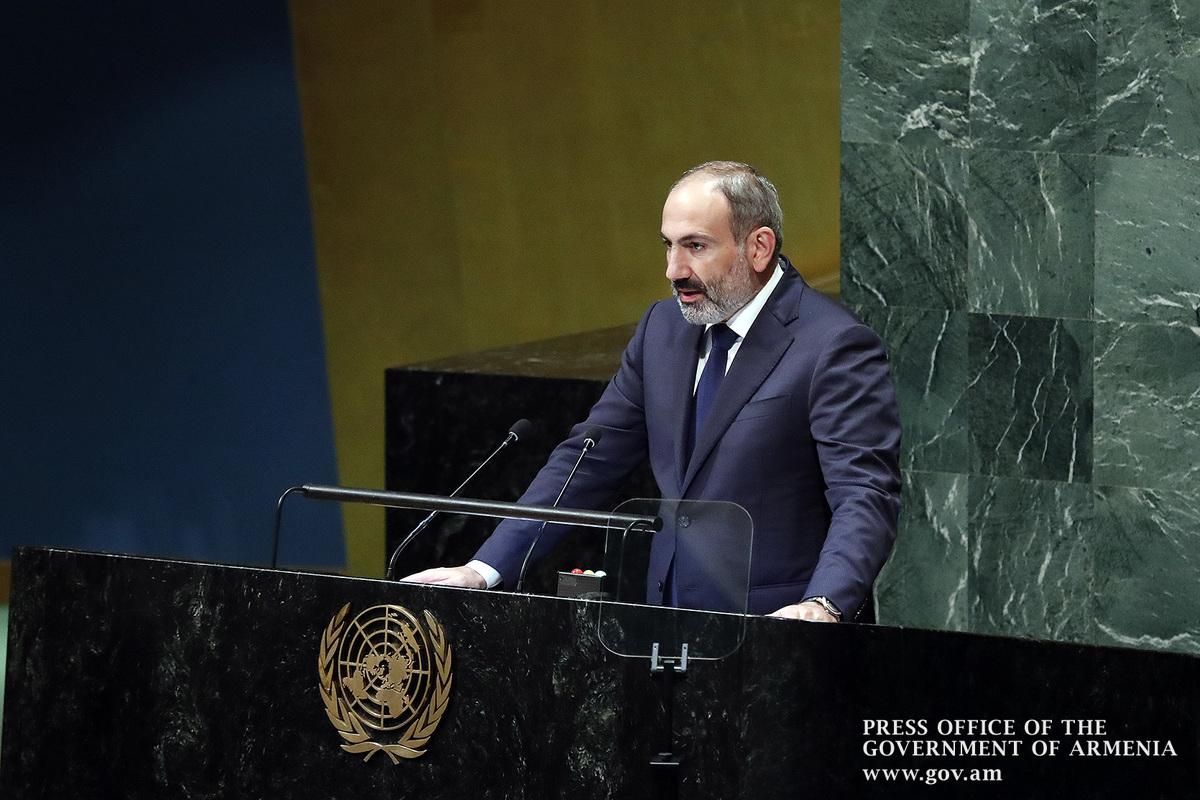 Пашинян в ООН: Арцах не может быть в составе Азербайджана, это станет новым геноцидом армян
