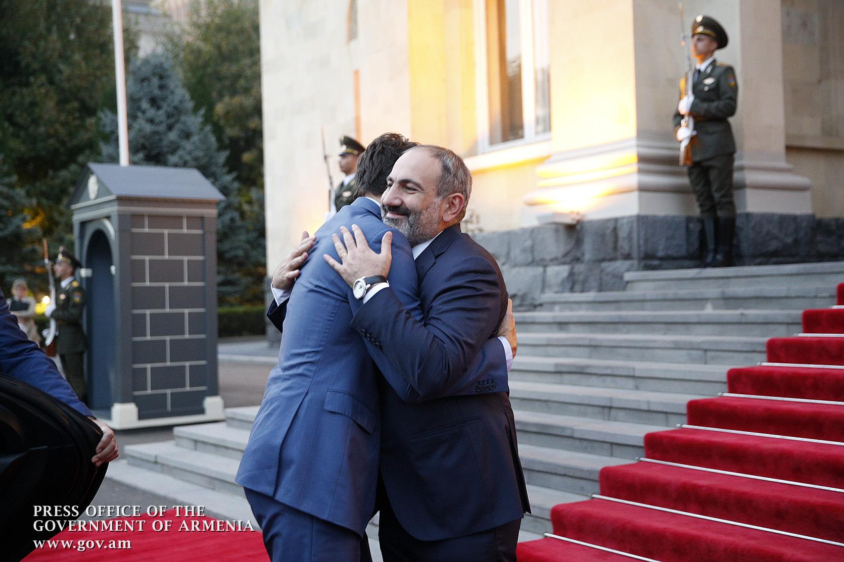 Nikol Pashinyan Justin Trudeau Discuss Furtherance Of Armenian