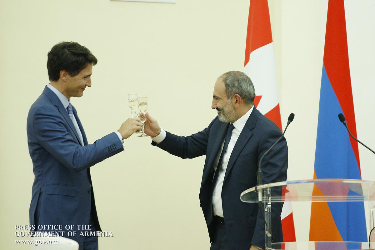 Никол Пашинян: Считаю Трюдо хорошим другом армянского народа и лично своим другом