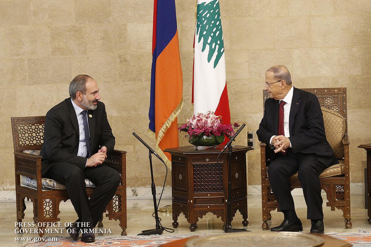 Состоялась встреча и.о. премьера Армении и президента Ливана