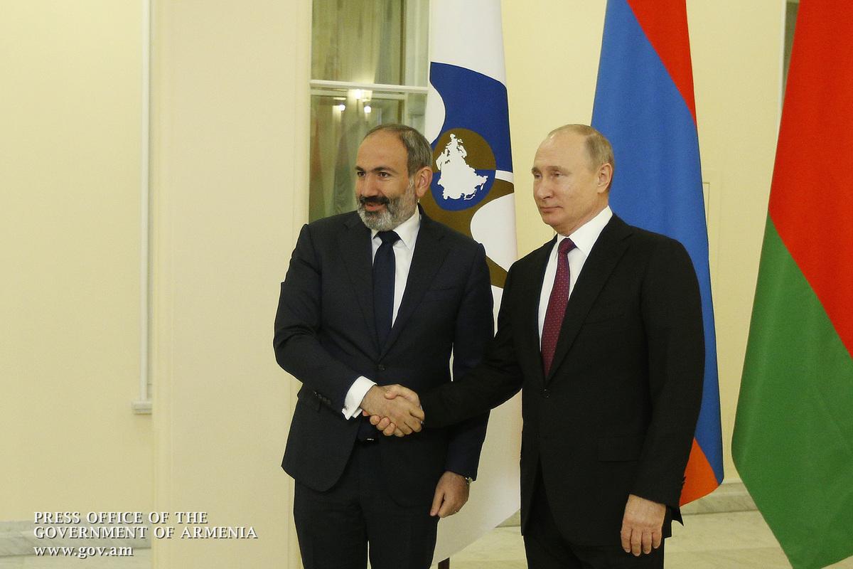 Армения возглавит ЕАЭС в 2019 году: Путин пожелал удачи и передал эстафету