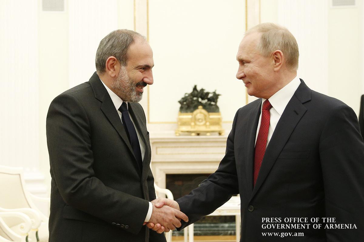 Пашинян пригласил Путина в Армению с официальным визитом