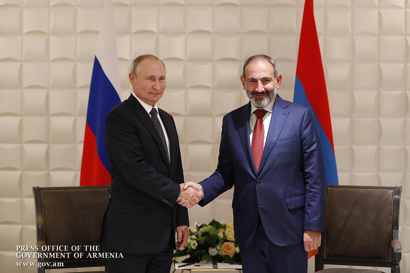 Никол Пашинян и Владимир Путин обсудили широкий круг вопросов армяно-российских отношений