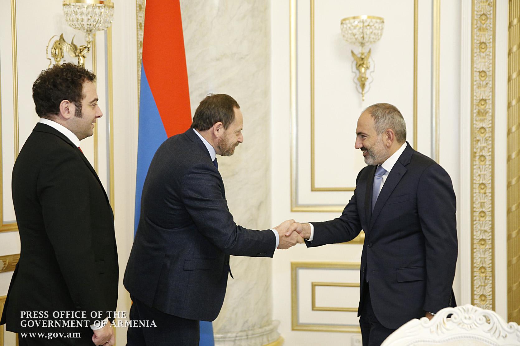 """Премьер-министр Армении и генеральный директор """"Яндекс"""" обсудили вопросы расширения сотрудничества"""