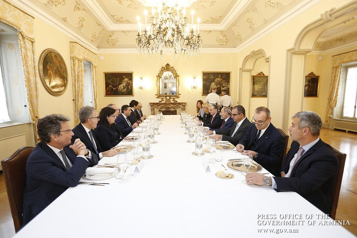 Премьер Никол Пашинян представил деловым кругам Италии инвестиционные возможности Армении