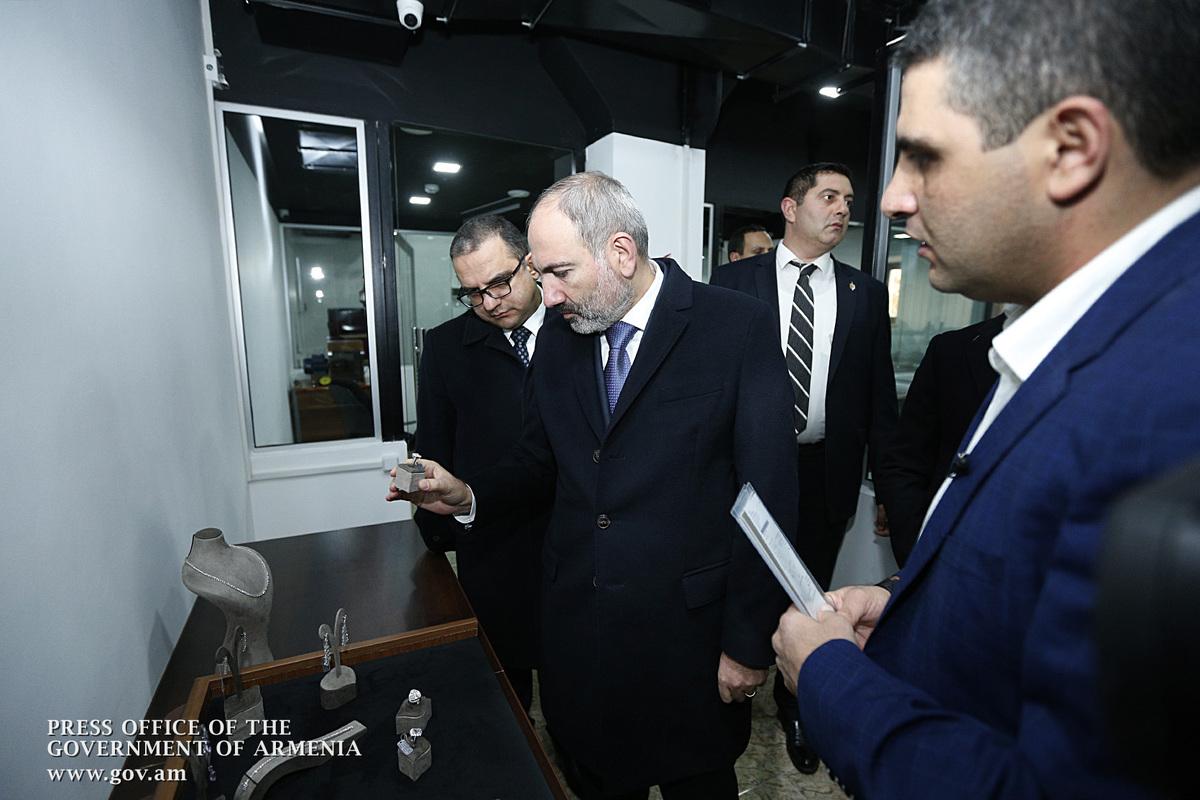Премьер-министр Армении присутствовал на церемонии открытия ювелирного завода