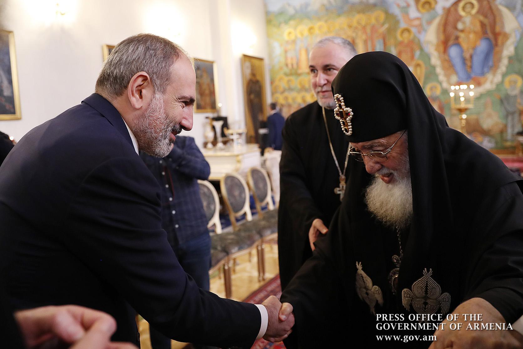 Пашинян встретился с Католикосом-Патриархом Всея Грузии Илией Вторым