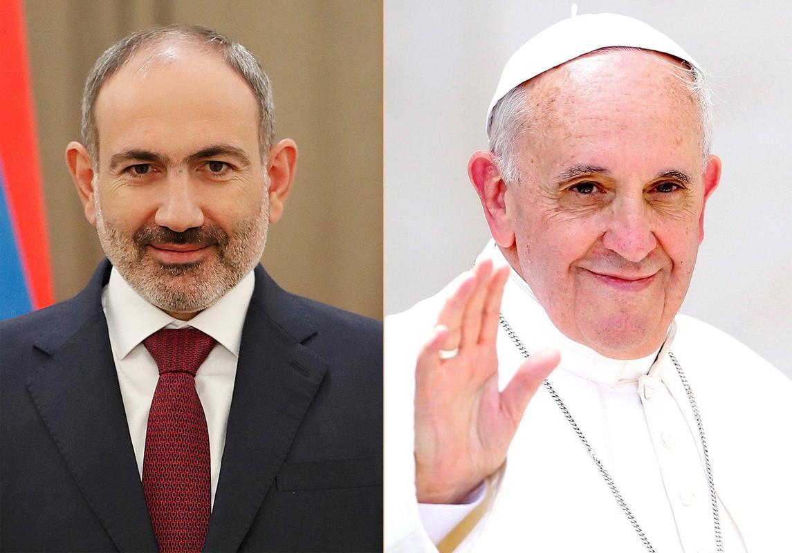 Премьер-министр Никол Пашинян провел телефонный разговор с Его Святейшеством Папой Франциском