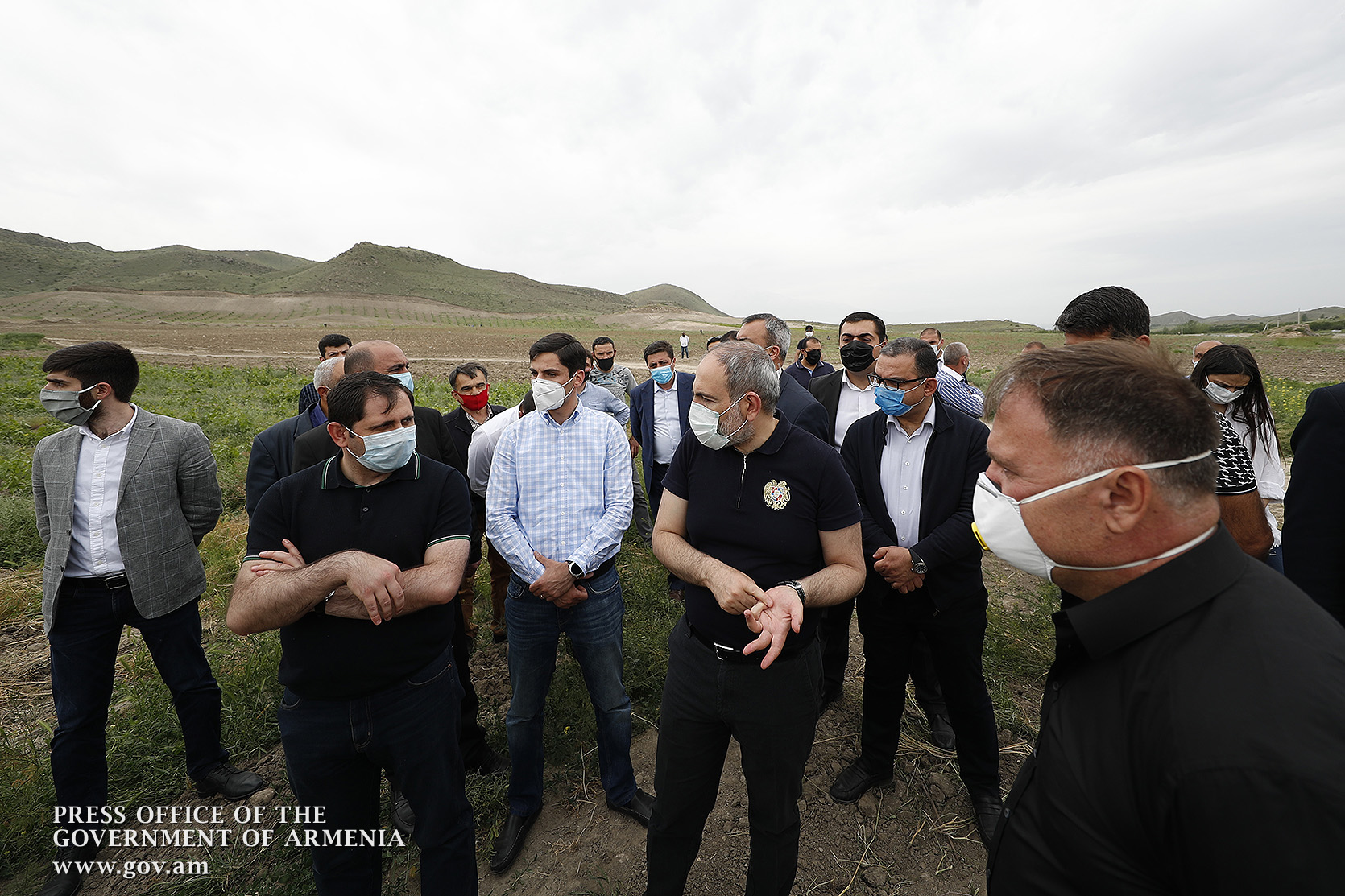 PM visits farmers in Narek community