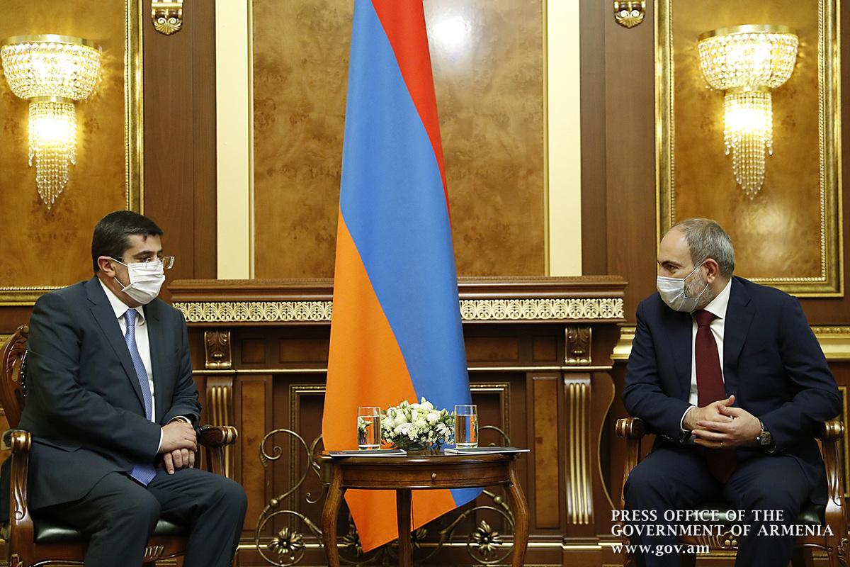 А.Арутюнян на встрече с Н.Пашиняном: Вижу возможность скорейшего изменения, развития Арцаха