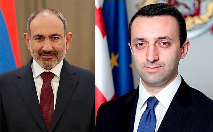 Премьер-министр Пашинян провел телефонный разговор с премьер-министром Грузии