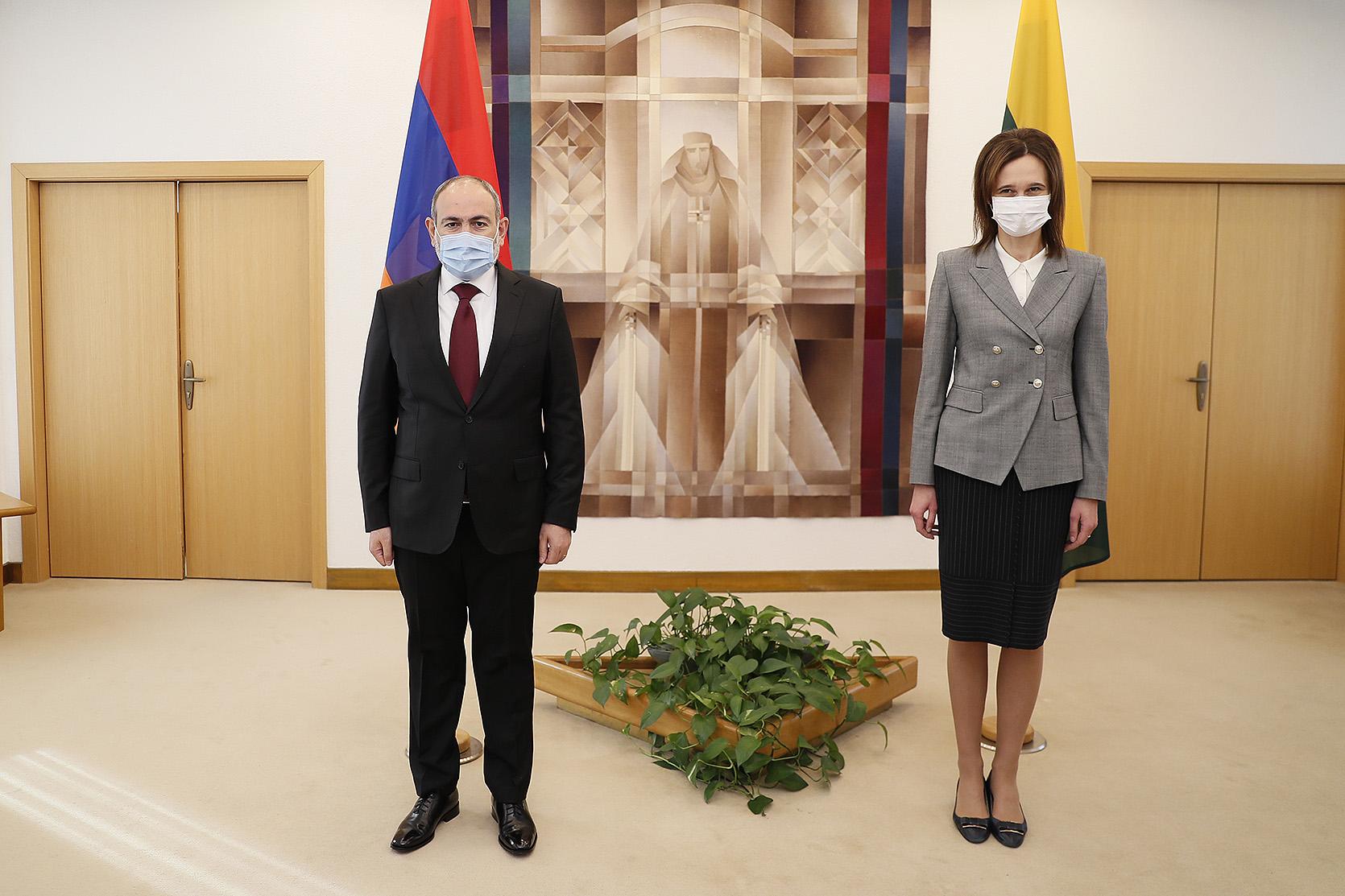 Премьер-министр Никол Пашинян провел встречу с председателем Сейма Литвы