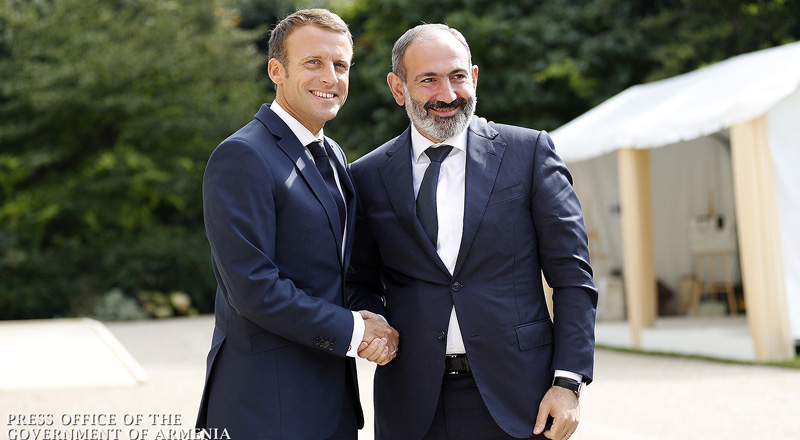 Meeting between Nikol Pashinyan and Emmanuel Macron held at Elysee Palace - Armenian-French cooperation agenda discussed