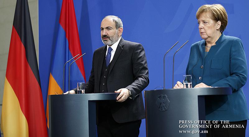 Image result for ՀՀ վարչապետը և Մերկելը
