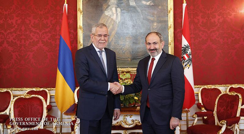 Վարչապետ Փաշինյանը հանդիպում է ունեցել Ավստրիայի նախագահ Ալեքսանդր Վան Դեր Բելենի հետ