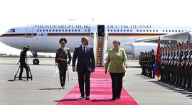 Канцлер Германии Ангела Меркель прибыла в Ереван с официальным визитом