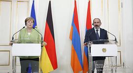 Совместная пресс-конференция премьер-министра Армении Никола Пашиняна и канцлера Германии Ангелы Меркель