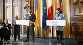 Встреча премьер-министра Никола Пашиняна с мэром Парижа Анн Идальго