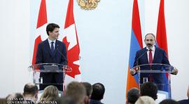 Conférence de presse du Premier ministre de la République d'Arménie, Nikol Pashinyan, et du Premier ministre canadien, Justin Trudeau