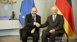 Prime Minister arrived in Germany on a working visit and met with Bundestag President Wolfgang Schäuble