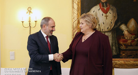 Nikol Pashinyan meets with Prime Minister of Norway