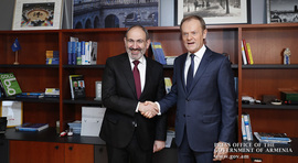 """You can rely on me in my new position"" - Donald Tusk to Prime Minister Pashinyan"