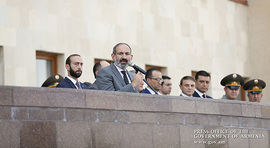 Nikol Pashinyan Attends 2017-2018 Academic Year Final Graduation Ceremony of Military Education Institutions at RA Ministry of Defense